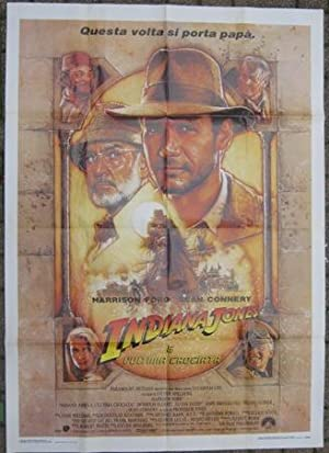 INDIANA JONES E L'ULTIMA CROCIATA, manifesto 1,00 x 1,40 con Sean Connery ed Harrison Ford, Roma,...