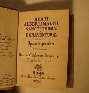 Paradisus animae sive de virtutibus libellus + Opusculum de divinus moribus, quod S. Thomae IN ...