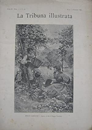 LA TRIBUNA ILLUSTRATA ANNO SECONDO 1891, Roma, La Tribuna Illustrata, 1891
