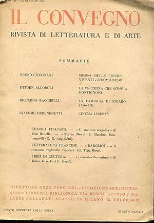 CINEMA LIBERTY (alla signora Emilia Ca' Zorzi),: Debenedetti Giacomo (1901-1967)