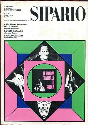 SIPARIO, rivista di teatro e cinema - 1973 - numero 326 luglio, Milano, Bompiani, 1973