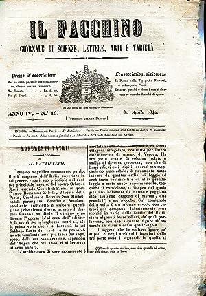 IL FACCHINO, giornale di scienze, lettere, artii