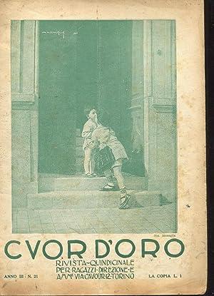 CUOR D'ORO, rivista per ragazzi - 1924