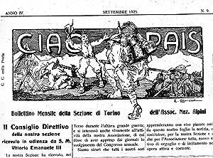 CIAO PAIS, bollettino mensile della sezione di Torino dell'ass, Naz. Alpini ( anno IV - numero...