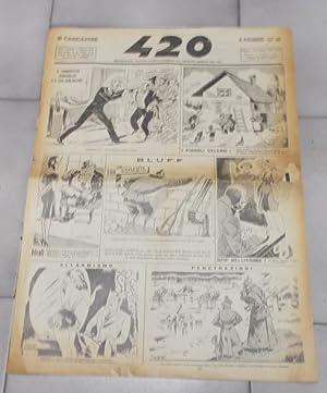IL 420 - 1940 - Rivista satirica settimanale - ANNO XXVII - num. 1311 del 28 gennaio., Firenze, ...