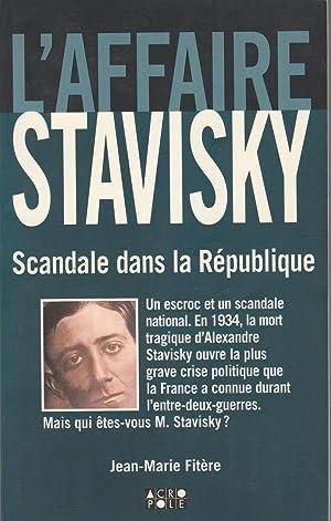 L' affaire Stavisky.: FITERE (Jean-Marie).
