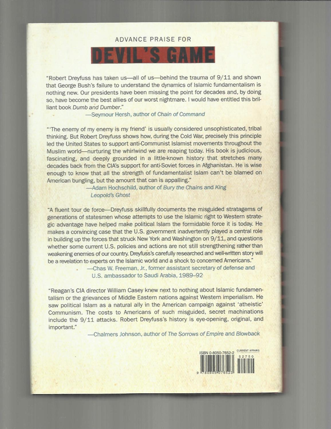 DEVIL'S GAME: How The United States Helped