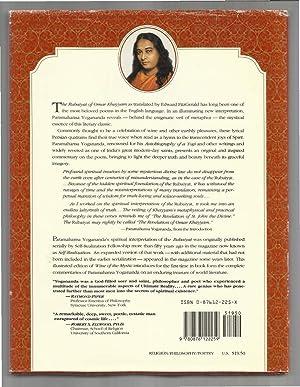 WINE OF THE MYSTIC: THE RUBAIYAT OF OMAR KHAYYAM~ A Spiritual Interpretation.: Yogananda, ...