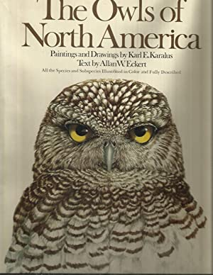THE OWLS OF NORTH AMERICA: Paintings And: Eckert, Allan W.