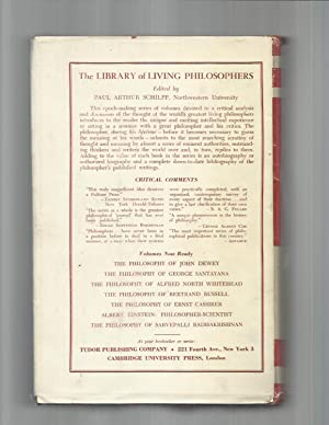 THE PHILOSOPHY OF SARVEPALLI RADHAKRISHNAN ~Edited by PAUL ARTHUR SCHILPP ~A Critical Analysis And ...