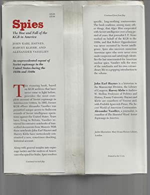 SPIES: The Rise And Fall Of The KGB In America.: Haynes, John Earl, Harvey Klehr & Alexander ...