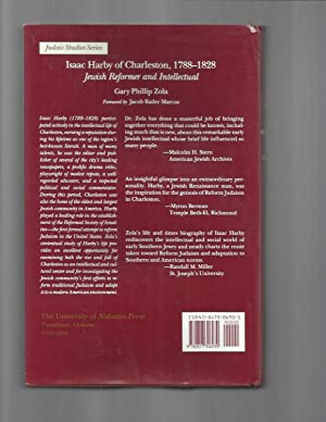 ISAAC HARBY OF CHARLESTON 1788~1828: Jewish Reformer And Intellectual. Foreword By Jacob Rader ...