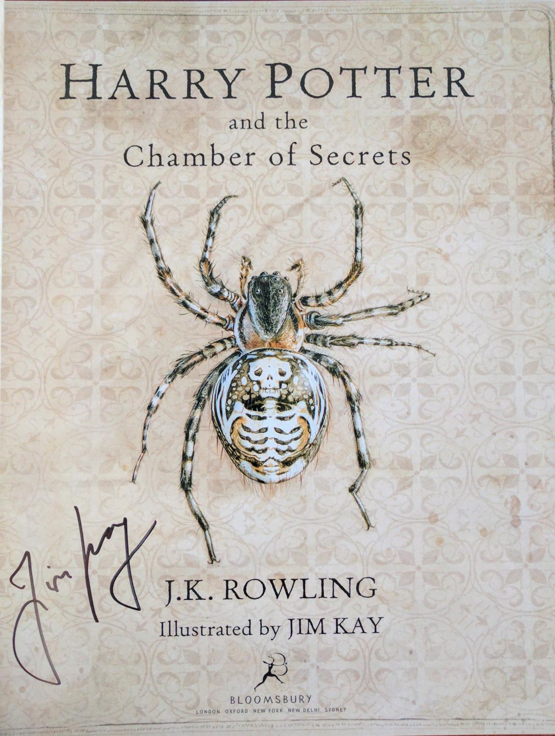 Harry Potter Illustrated Book Cover : Harry potter and the chamber of secrets deluxe