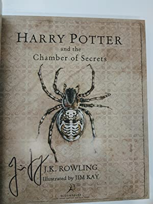 Harry Potter and the Chamber of Secrets (First Edition, First Printing, Signed by the illustrator):...