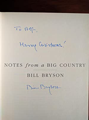 Notes from a Big Country (Signed/Inscribed, First Edition, First Printing): Bryson, Bill