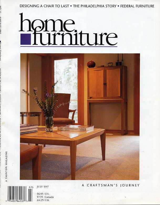 Home Furniture Magazine July 1997 Fine Woodworking Fine Homebuilding Taunton By Fine Woodworking Taunton Very Good Oversized Paperback 1997 Seacoast Books