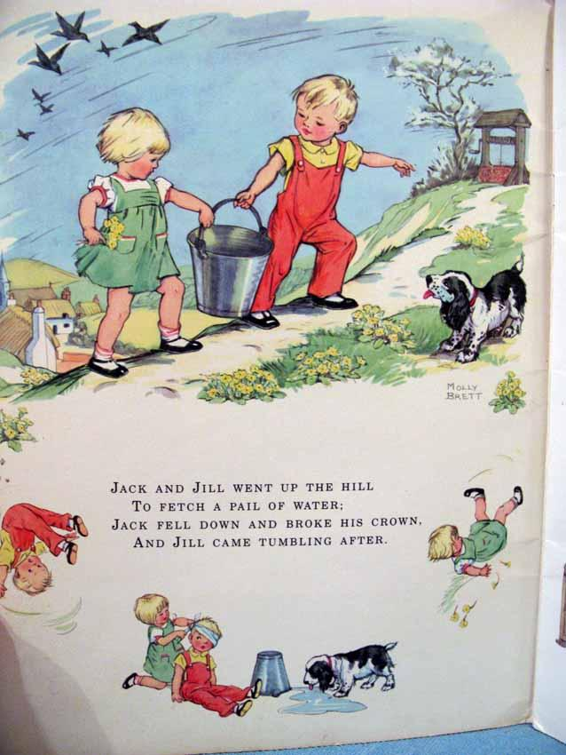 Nursery Rhymes Picture Book Favorite From Mother Goose Molly Brett Ilrator