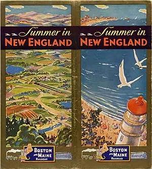Summer in New England [1930] - Boston and Maine Railroad [Boston & Maine, B&M]: Boston and ...