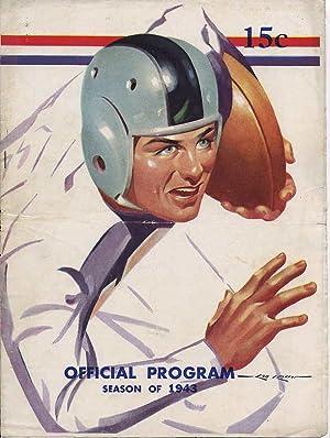 1943 Winthrop vs. Revere Thanksgiving Day Football Game ~ Official Program [Massachusetts/Mass...