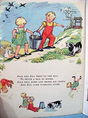 NURSERY RHYMES PICTURE BOOK ~ Favorite Rhymes from Mother Goose: Molly Brett [illustrator]