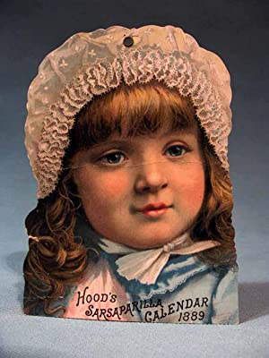 Hood's Sarsaparilla Calendar 1889 ~ lithographed card
