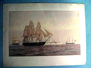 Lithograph, Frederick S. Cozzens, naval vessels 'Portsmouth',: Frederick S. Cozzens