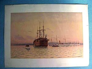 Lithograph, Frederick S. Cozzens, naval vessel 'New: Frederick S. Cozzens