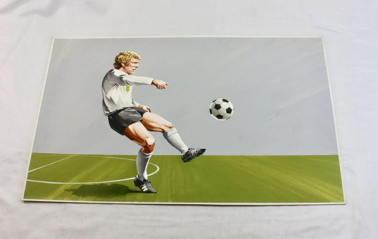 A Collection of 5 Original Colour Footballer portraits from the 1970/1974 World Cups unknown artist 1970's