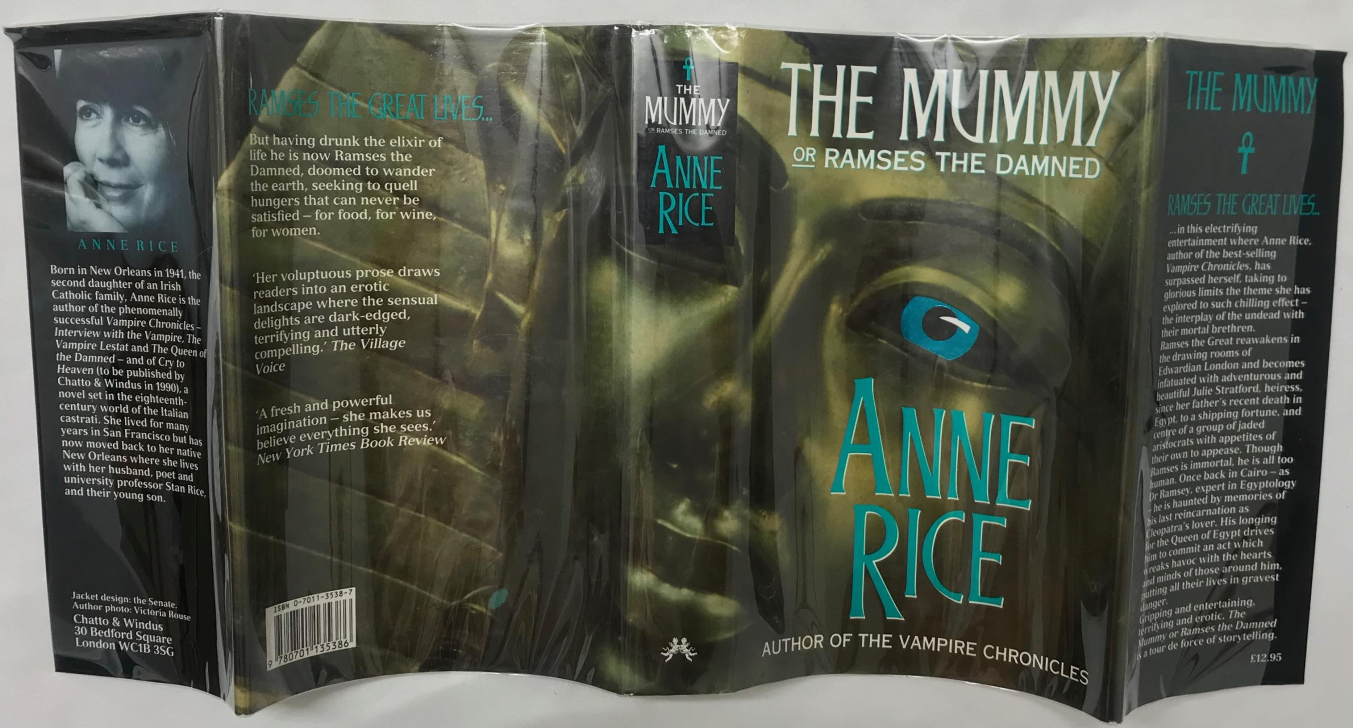 The Mummy Or Ramses The Damned By Rice  Anne  Fine