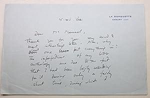 Huxley, Aldous, (1894-1963). Autograph letter signed, ?AldousHuxley?,: Huxley, Aldous