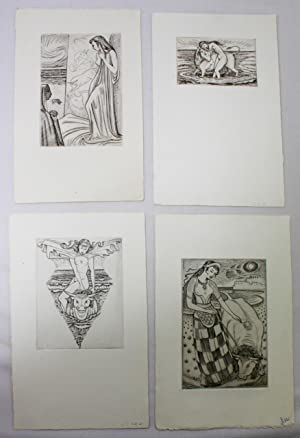 Buckland Wright - Four original engravings from Persiphae