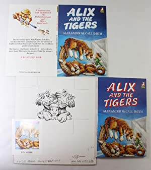 Jon Miller A folder of 21 original book illustrations for 'Alix and the Tigers' including colour ...