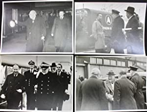 Collection of 15 original photographs of Winston Churchill at Southampton Docks 1941 - 1954