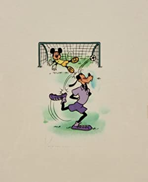 Walt Disney - group of eight Disney animation cells: Donald Duck, Mickey Mouse, Goofy and others ...