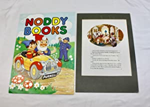 A small collection of 3 original artworks for the Enid Blyton Noddy series, including the cover d...