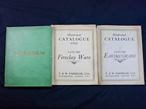T&W Farmiloe 3 Trade Catalogues Sanitary Ware 1923 - 1930