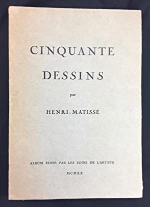 Matisse Cinquante Dessins 1 of 3 Proof copies ANNOTATED