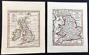 William Faden 2 Fine hand coloured maps of Britain 1798