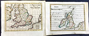 Bossuet two fine maps of Great Britain 1755
