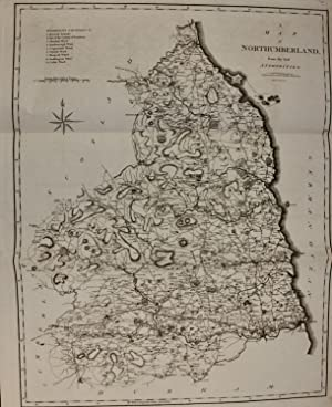 John Cary map Northumberland 1805 from Camden's Britannia