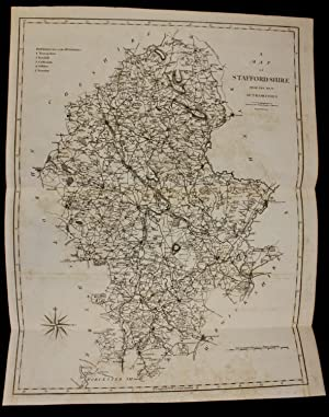 John Cary map Staffordshire 1804 from Camden's Britannia