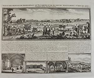 Chatelain - Vue et description de Nazareth et de saints, from 'Atlas Historique',