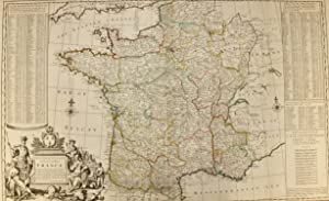 Moll - A New and Exact Map of France divided into its provinces and acquisitions