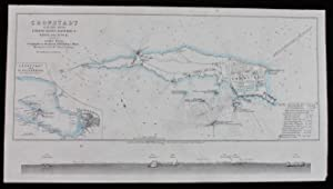 Map - Cronstadt in the Baltic with the Fortifications, Batteries & Range of the Guns