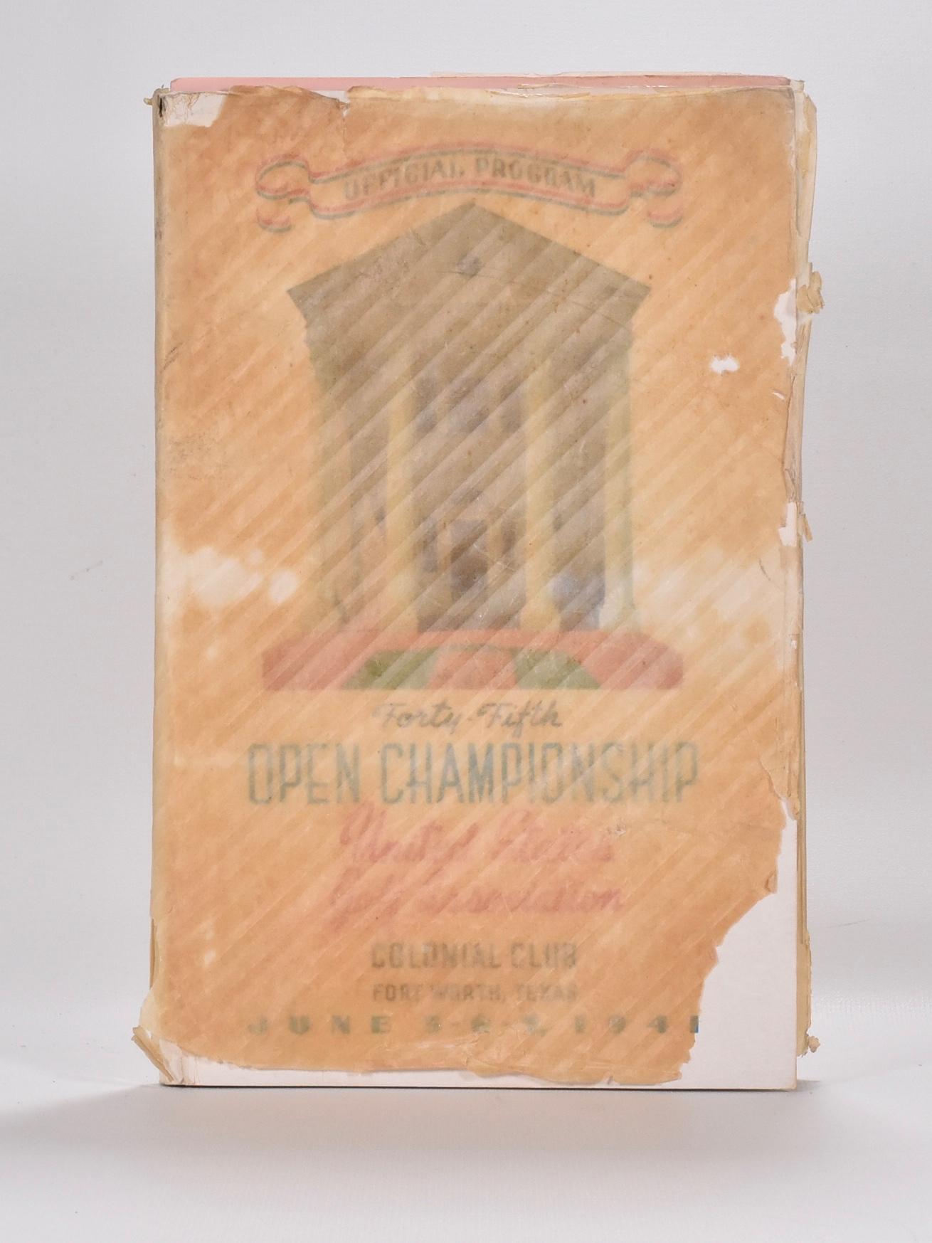 The 45th U.S. Open Championship Program. U.S.G.A.
