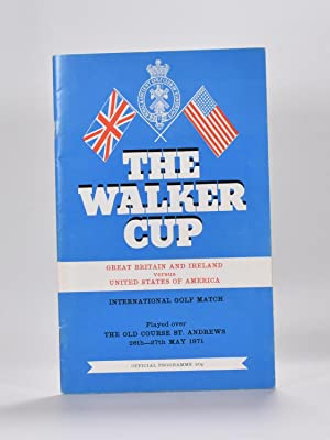 Walker Cup 1971 Official Programme