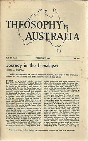 Theosophy in Australia, Volume 27, 1963 - 2 issues