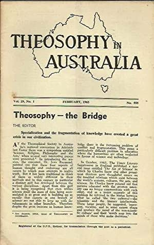 Theosophy in Australia, Volume 29, 1965 - 6 issues (complete)