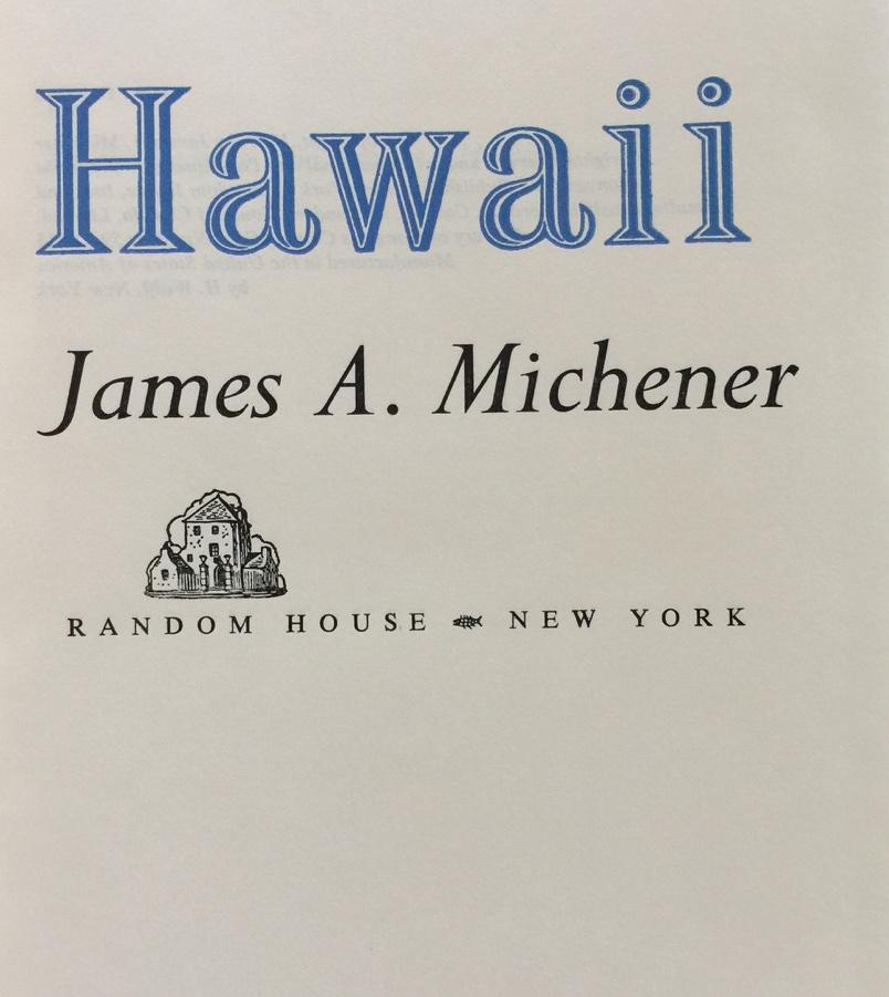 Hawaii By James Michener Random House Hardcover 1st Coffee Table Book