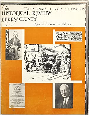 Centennial Duryea Celebration, The Historical Review of Berks County, Special Automotive Edition